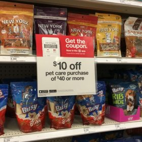 Save $10 off $40 Pet Care Purchase