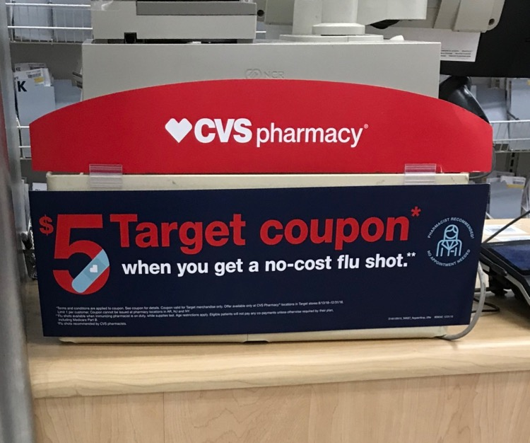 5 target coupon with no cost flu shot all things target