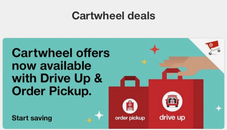 Target Cartwheel offers now available with Drive Up & Orer Pickup