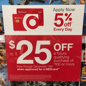 Get a REDcard & get a $25 off $100 Coupon (12/9-12/15)