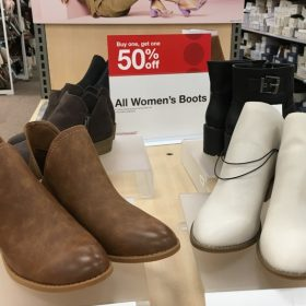 Buy One, Get One 50% off Women's Boots at Target
