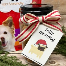 Holiday Dog Treat Jars with Free Printables