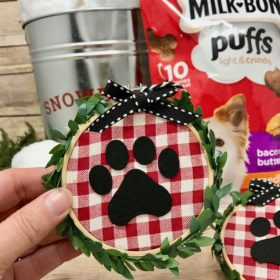 Paw Print Ornaments for Dog Lovers