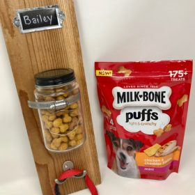 DIY Dog Treat & Leash Station