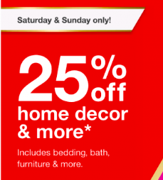 Target Weekend Deals – 25% Off Home Decor & More (Nov 10 & 11)