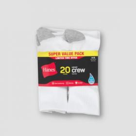 Hanes Men's Bonus Packs of Socks & Undewear only $7.50 (50% off)
