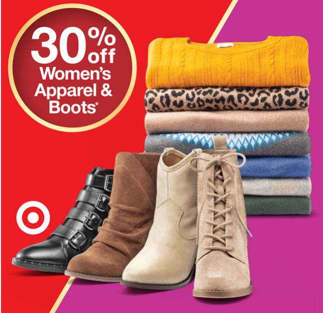 916ae6be43d1f This offer is good in-store and online at Target.com, no code needed. There  are some nice sales on women's clothing ...
