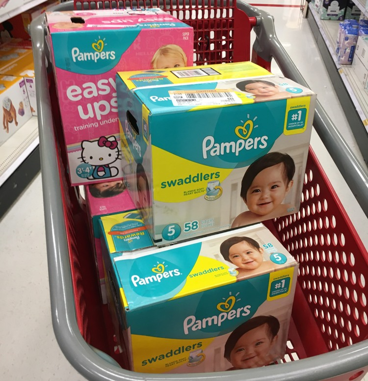 f4dd3f7c92 Pampers Swaddlers Super Pack Diapers  24.99 ~ Buy 2. Present  20 gift card  with  100 baby care purchase Target mobile or in-ad coupon ...