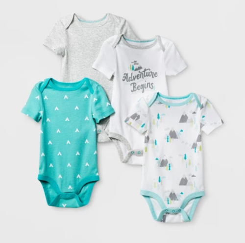 47562d3b9 Cloud Island Baby Boys' 4-pack Short Sleeve Bodysuit $4.99 (reg $9.99)