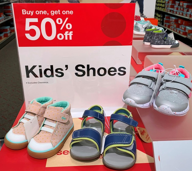 Kids' Shoes Buy One, Get One 50% off