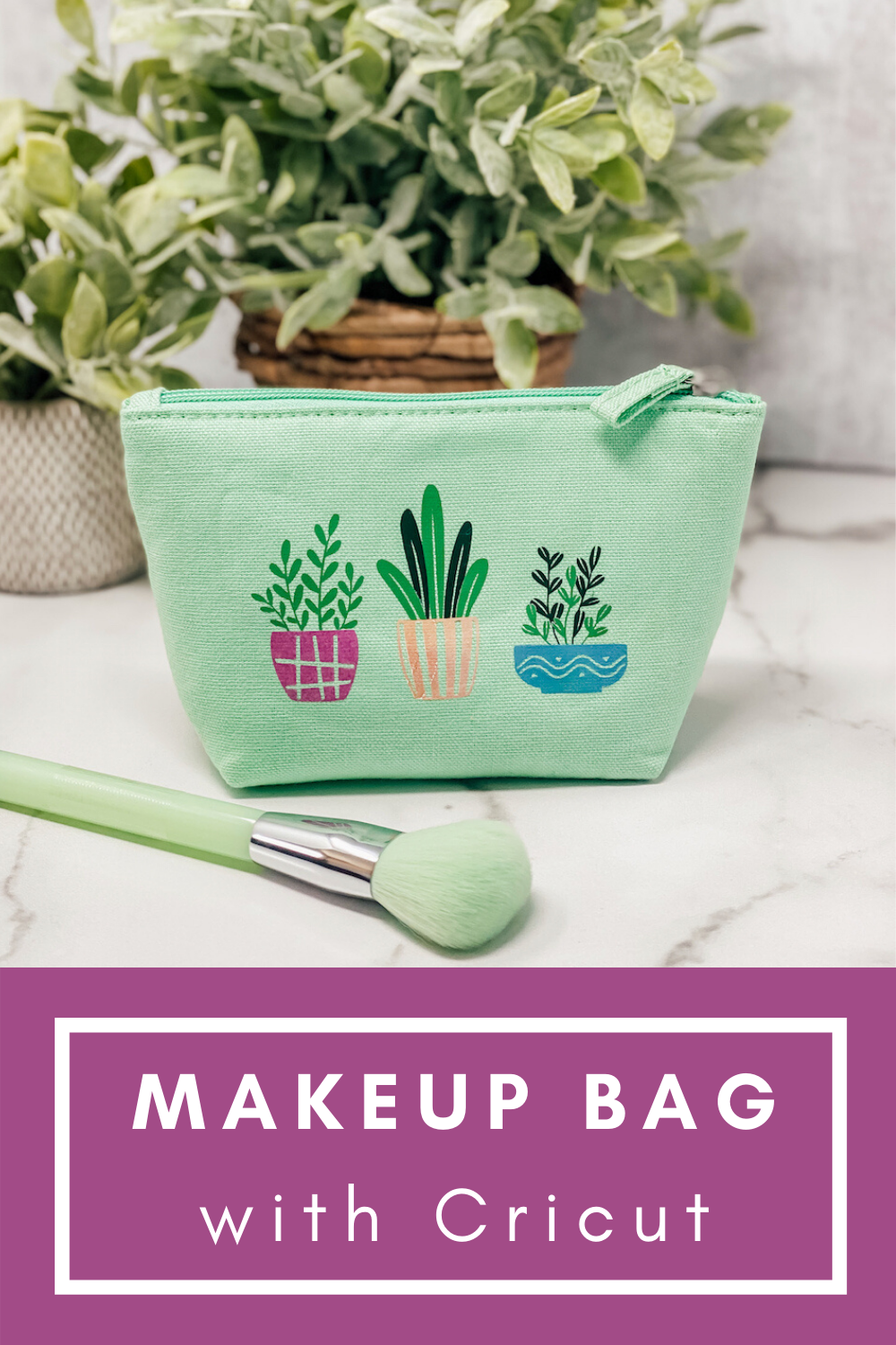 Makeup Bag with Cricut